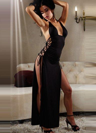 Uzun Fantazi Sexy Gece Elbisesi