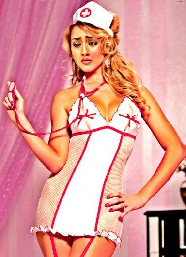 Hemşire Jartiyerli Kız Kostümü
