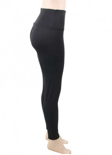 Kalça Tasarımlı Siyah Tayt
