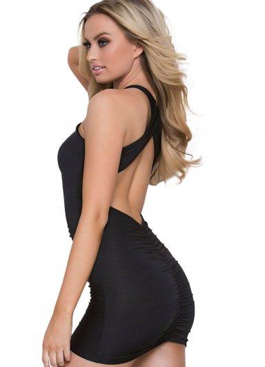Sırt Dekolteli Sexy Mini Elbise