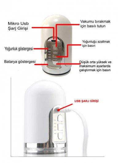 X-MEN USB Şarjlı Otomatik Geliştirici Vakum Pompa
