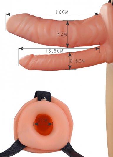 Çift Taraflı İçi Boş Belden Bağlamalı Protez Penis