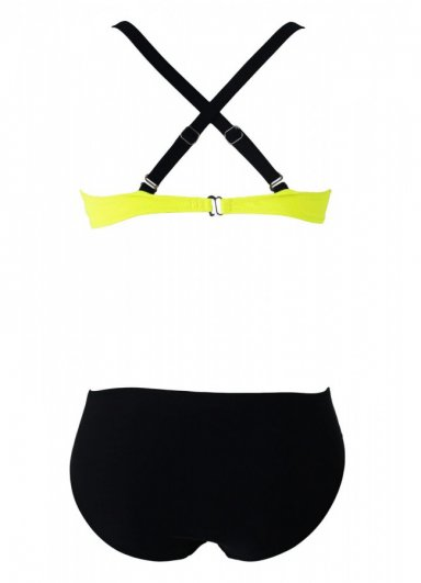 Sarı Siyah Şık Bikini Tek Alt