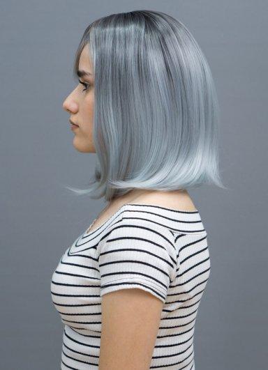 Siyah Buz Mavisi Ombreli Kleopatra Peruk Modeli