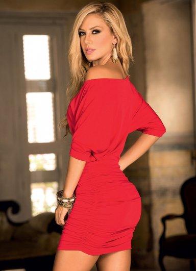 Şık Kırmızı Mini Elbise