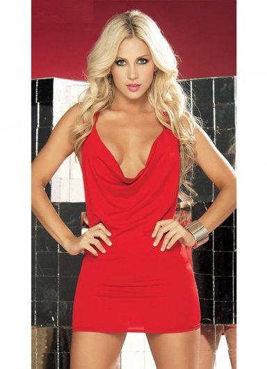 Özel Tasarım Kırmızı Mini Elbise
