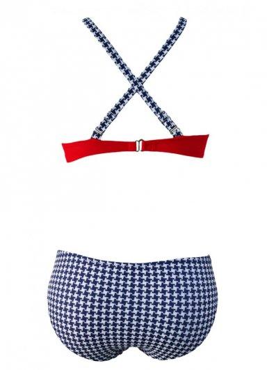 Kırmızı Destekli Bikini Üst