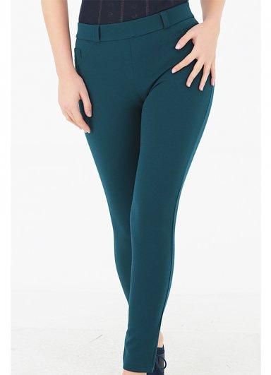 Cep Detaylı Pantolon Tayt Yeşil