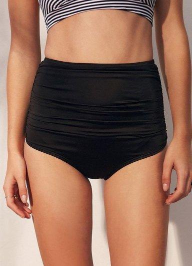 Siyah Yüksek Bel Bikini Takım