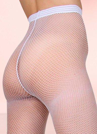 Nokta Shop Beyaz File Külotlu Çorap