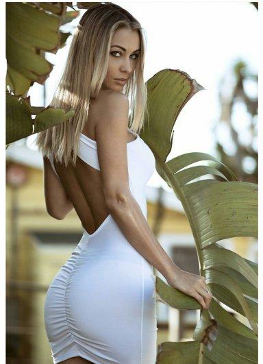 Sırt Dekolteli Mini Elbise Beyaz