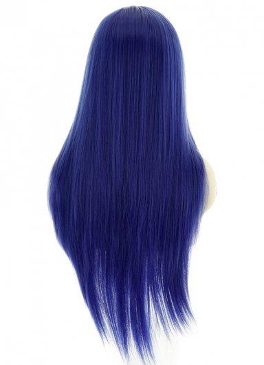 Uzun Renkli Saks Mavisi Peruk