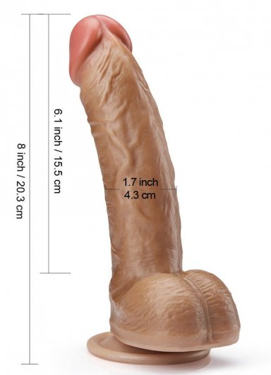 Gerçekçi Yumuşak 20 Cm Dildo