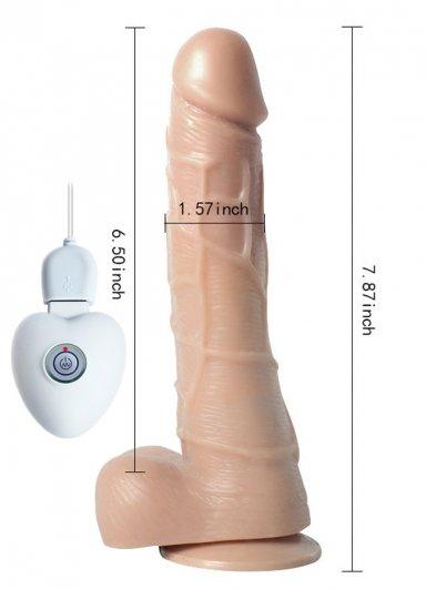 Oynar Başlı Şarjlı Realistik Vibratör Penis