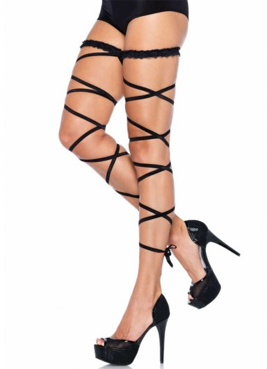 Siyah Parlak Çapraz Desenli Fantazi Çorap Modeli