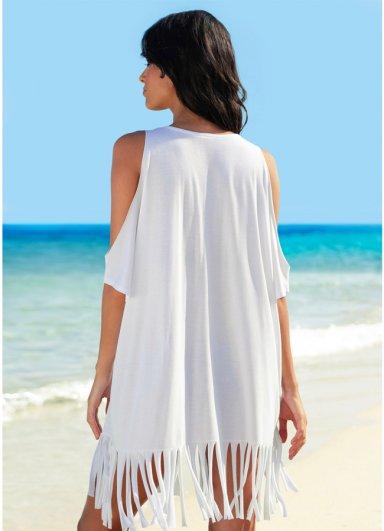 Angelsin Beyaz Beach Baskılı Pareo