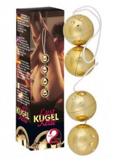 Gold Vibro Balls 4lü Masaj Topları