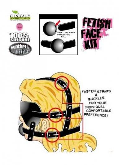 Fetiş Yüz Maskesi Kiti