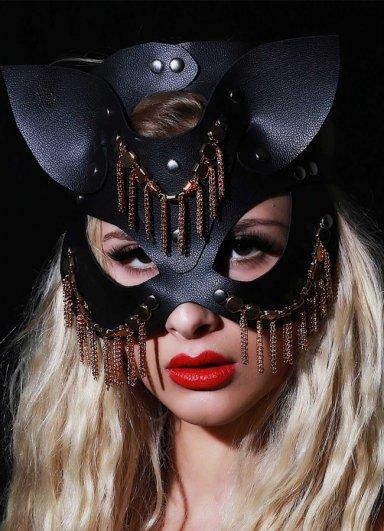 Fantazi Deri Maske Oriental