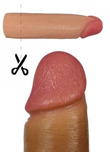 Gerçekçi Doku 2.5 Cm Dolgulu Penis Kılıfı
