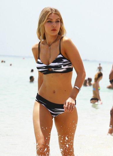 Angelsin Zebra desenli Siyah Beyaz Şık Bikini
