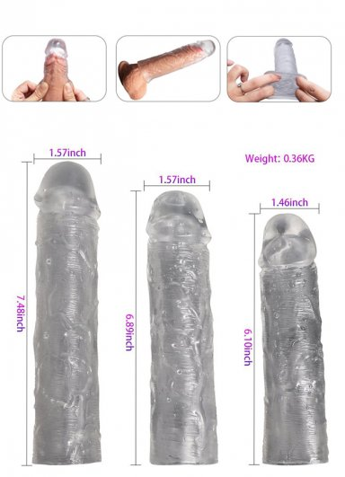 3 Lü Set Penis Kılıfı