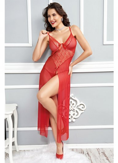 Sexy Transparan Gecelik Fantazi Giyim