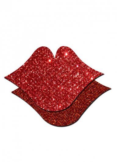 Kırmızı Öpücüklü Göğüs Ucu Kapatıcı