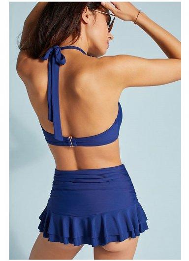 Mavi Etekli Bikini Alt