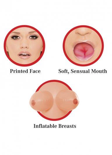 Oral Sex Özellikli 3 İşlevli Şişme Bebek