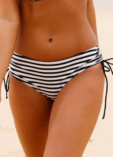 Siyah Beyaz Destekli Bikini Alt