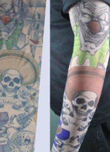 Tattoo Paylaço Kuru Kafa Motifli Giyilebilir Dövme