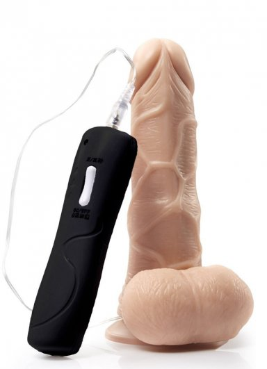 Oynar Başlı Titreşimli Gerçekçi Vibratör 13 Cm
