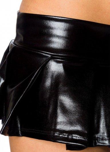 Deri Mini Elbise Fantezi Giyim