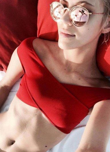 Kırmızı Özel Tasarım Bikini Takım
