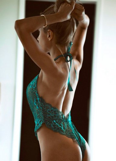 Yeşil Seksi Body İç Giyim