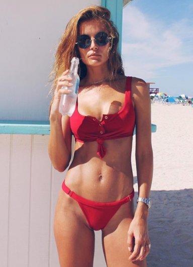 Angelsin Kırmızı Şık Bikini Takım