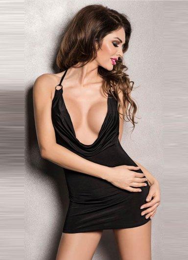 Sırt ve Göğüs Dekolteli Fantezi Elbise