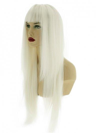 Uzun Renkli Beyaz Peruk