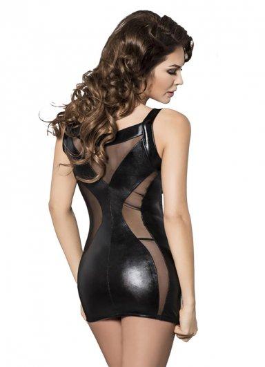 Seksi Elbise Lame Deri Bağcıklı