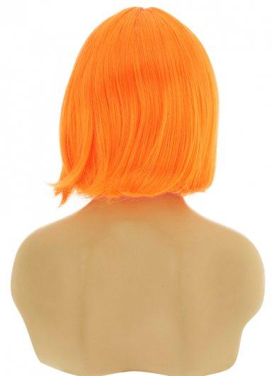 Renkli Kısa Turuncu Peruk