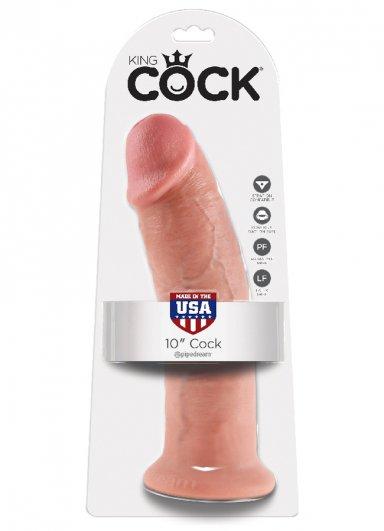 King Cock 25.4 Cm Dildo Ventouse