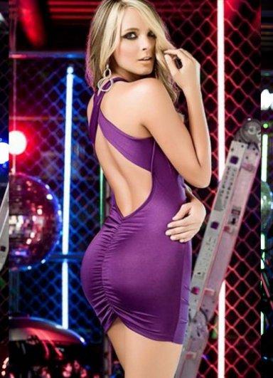 Nokta Shop Sırt Dekolteli Mini Elbise