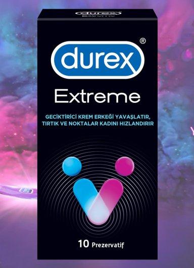 Geciktirici Etkili Durex Extreme 10lu Prezervatif