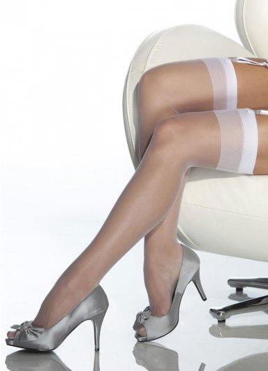 Beyaz Dantelsiz Jartiyer Çorabı