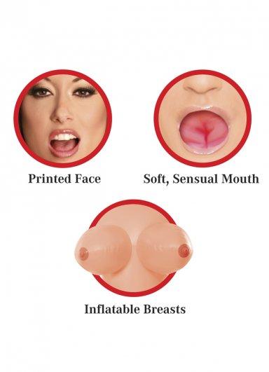 Oral Sex Yapabilen 3 İşlevli Şişme Bebek