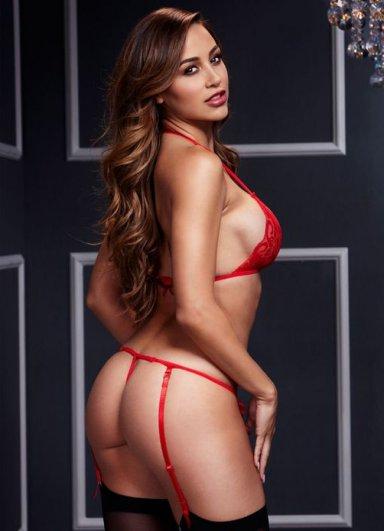 Kırmızı Dantel Jartiyer Takım