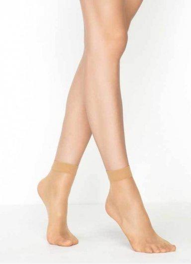 Süper İnce Mat 15 Denye Soket Çorap Ten