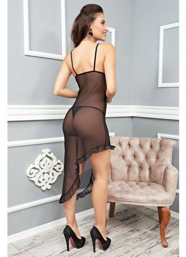 Sexy Uzun Gecelik Transparan Fantazi Giyim