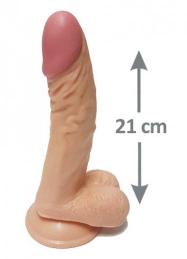 Pleasure 21 Cm Testisli Gerçekçi Dildo